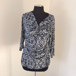 Vince Camuto Large Printed faux Wrap blouse